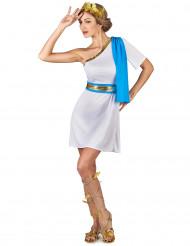 Disfarce imperatriz grega azul mulher
