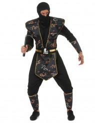 Disfarce ninja dragrão dourado - homem