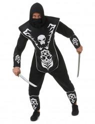 Disfarce ninja esqueleto - homem