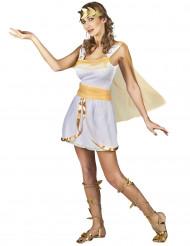 Disfarce deusa grega branco e dourado mulher