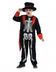 Disfarce esqueleto chique menino