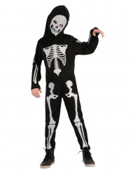 Disfarce esqueleto criança