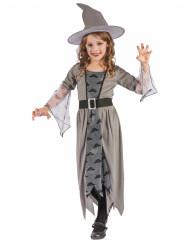 Disfarce bruxa cinzenta menina