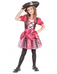 Disfarce pirata cor-de-rosa para menina