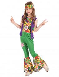 Disfarce hippie flower power menina