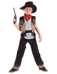 Disfarce cowboy menino