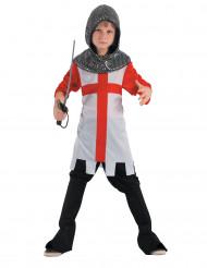 Disfarce cavaleiro das cruzadas menino