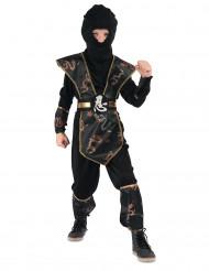 Disfarce ninja dragão de ouro - menino