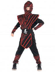 Disfarce ninja felino vermelho - menino