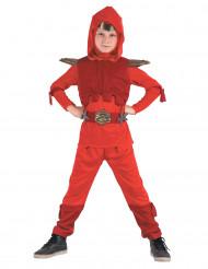 Disfarce ninja real vermelho menino