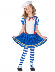 Disfarce marinheiro brilhante menina