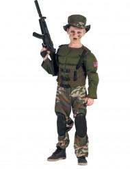 Disfarce Soldado Americano musculoso menino