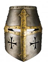 Máscara de cartão capacete de cavaleiro