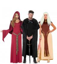 Disfarce de grupo medieval adulto