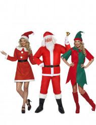 Disfarce de grupo de Natal adulto