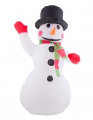 Decoração boneco de neve insuflável e luminoso Natal