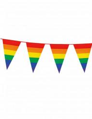 Grinalda bandeirolas arco-íris 8 m
