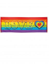 Bandeirola LOVE Arco-íris 74 x 220 cm