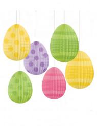 6 Decorações para pendurar Ovos de Páscoa