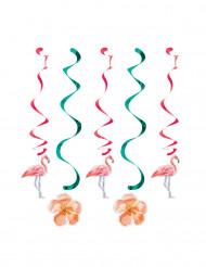 5 Decorações para pendurar flamingo rosa