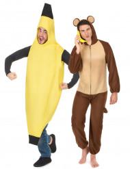 Disfarce de casal banana e macaco