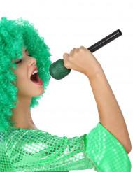 Microfone de cantor verde