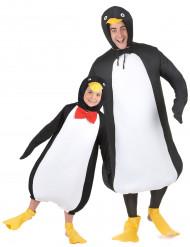 Disfarce de sacal pinguim pai e filho