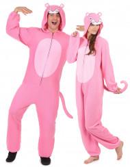 Disfarce de casal pantera cor-de-rosa adulto
