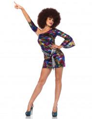 Disfarce holográfico colorido sexy mulher