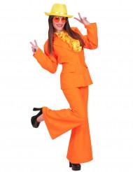 Disfarce fato cor de laranja mulher