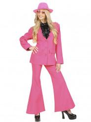 Fato cor-de-rosa mulher