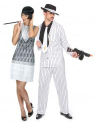 Disfarce de casal Charleston branco - anos 20