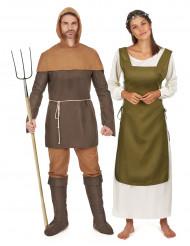 Disfarce de casal medieval