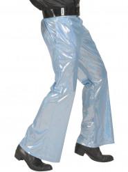 Calças disco holográficas azuis homem