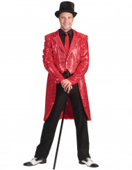 Casaco vermelho com lantejoulas homem