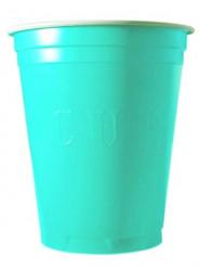 20 Copos de plástico turquesa