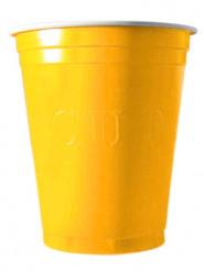 20 Copos de plástico amarelo