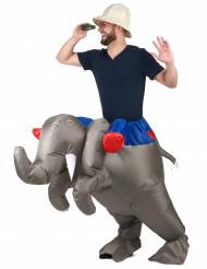 Disfarce elefante insuflável adulto