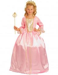 Disfarce Princesa cor-de-rosa luxo menina