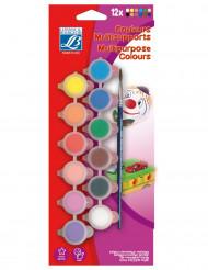 Palete de tintas 12 cores Lefranc & Bourgeois©