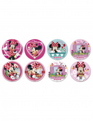 16 Mini discos de açúcar Minnie™ 3.4 cm