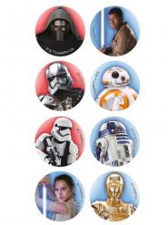 16 Mini discos em açúcar Star Wars™
