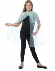 Capa azul transparente com flocos menina