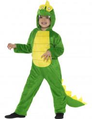 Disfarce crocodilo engraçado criança