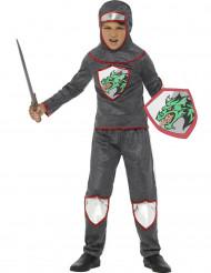 Disfarce cavaleiro medieval menino