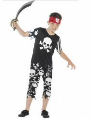 Disfarce pirata com caveiras menino
