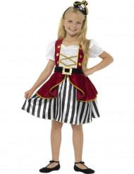 Disfarce miss pirata menina