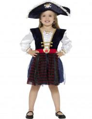 Disfarce pirata brilhante menina