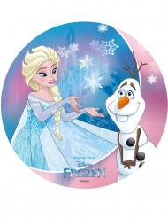 Disco ázimo Frozen™ 20 cm Elsa e Olaf