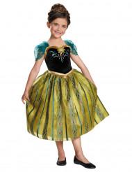 Disfarce Anna de Frozen™ na coroação menina